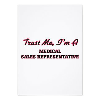 Trust me I'm a Medical Sales Representative Personalized Announcement