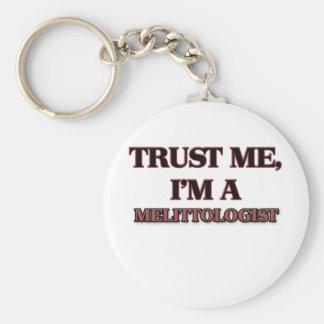 Trust Me I'm A MELITTOLOGIST Basic Round Button Keychain