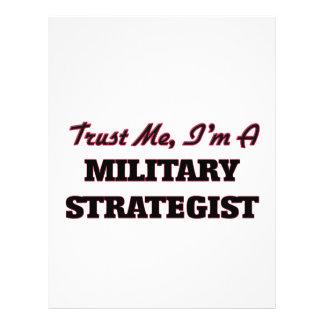 Trust me I'm a Military Strategist Flyer Design