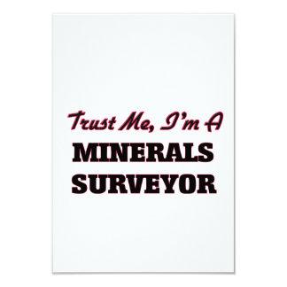 Trust me I'm a Minerals Surveyor 3.5x5 Paper Invitation Card
