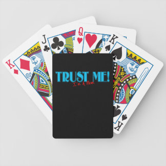 Trust Me I'm A Mom text Bicycle Playing Cards