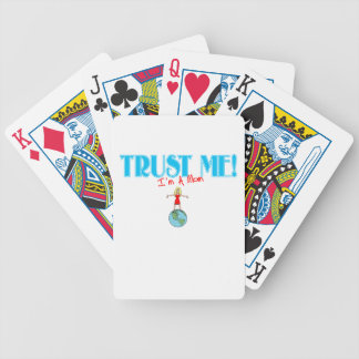 Trust Me I'm A Mom world graphic Bicycle Playing Cards