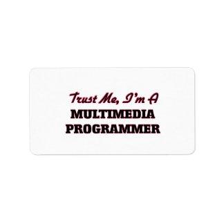 Trust me I'm a Multimedia Programmer Address Label