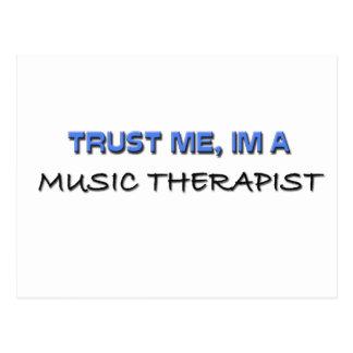 Trust Me I'm a Music Therapist Postcard