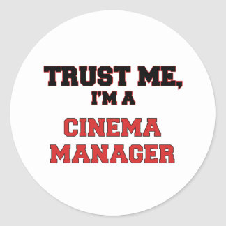Trust Me I'm a My Cinema Manager Round Stickers