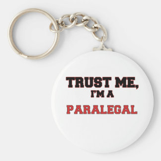 Trust Me I'm a My Paralegal Basic Round Button Keychain