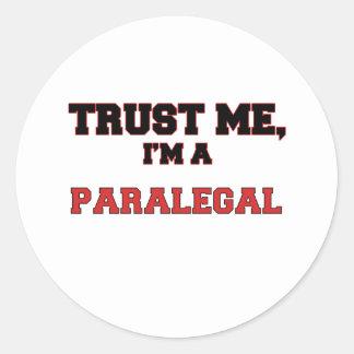 Trust Me I'm a My Paralegal Classic Round Sticker