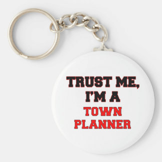 Trust Me I'm a My Town Planner Basic Round Button Keychain