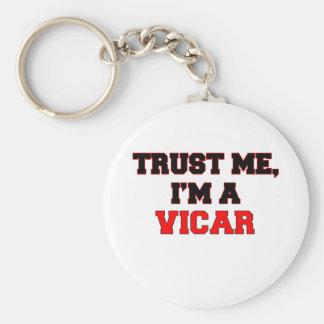 Trust Me I'm a My Vicar Keychain
