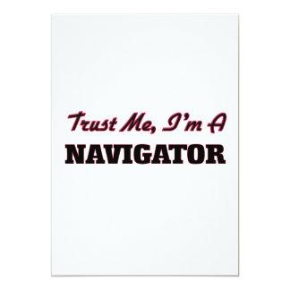 Trust me I'm a Navigator 5x7 Paper Invitation Card