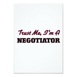 "Trust me I'm a Negotiator 3.5"" X 5"" Invitation Card"