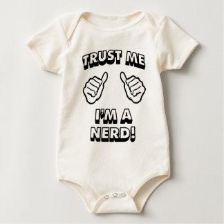 TRUST ME IM A NERD BLACK BABY BODYSUIT