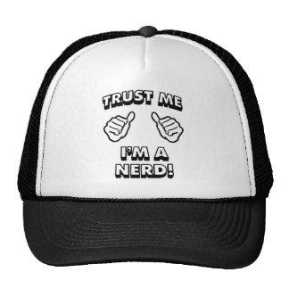 TRUST ME IM A NERD BLACK TRUCKER HAT