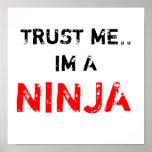 TRUST ME.. IM A NINJA POSTERS
