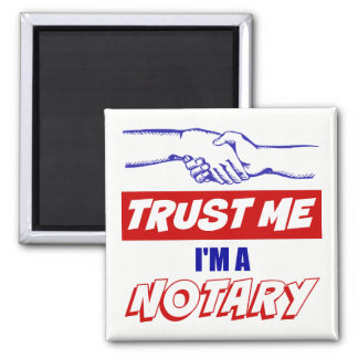 Trust Me, I'm a Notary Big Handshake Magnet