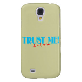 Trust Me I'm A Nurse blue and red Samsung Galaxy S4 Covers