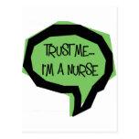 Trust me, I'm a nurse. Post Card