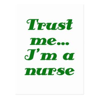 Trust Me Im a Nurse Postcard