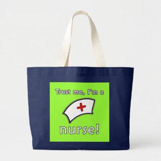 Trust Me I'm a Nurse T shirts, Hoodies, Caps Jumbo Tote Bag