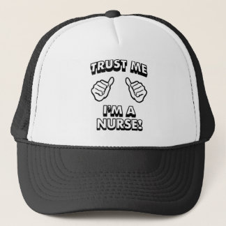 TRUST ME IM A NURSE WHITE TRUCKER HAT