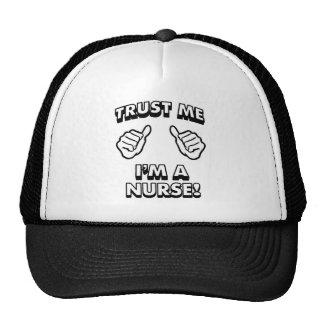 TRUST ME IM A NURSE WHITE TRUCKER HAT