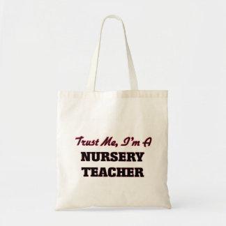 Trust me I'm a Nursery Teacher Budget Tote Bag