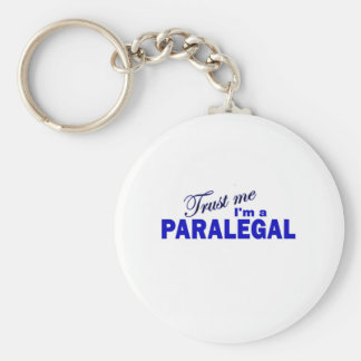Trust Me I'm a Paralegal Basic Round Button Keychain
