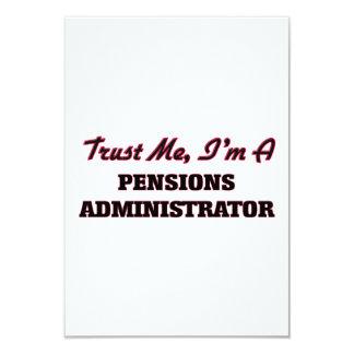 Trust me I'm a Pensions Administrator 3.5x5 Paper Invitation Card