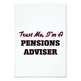 Trust me I'm a Pensions Adviser 3.5x5 Paper Invitation Card