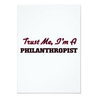 "Trust me I'm a Philanthropist 5"" X 7"" Invitation Card"