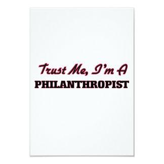 "Trust me I'm a Philanthropist 3.5"" X 5"" Invitation Card"