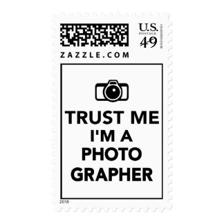 Trust me I'm a Photographer Postage Stamps