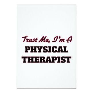 Trust me I'm a Physical arapist 3.5x5 Paper Invitation Card