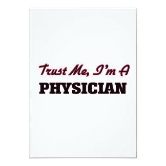 Trust me I'm a Physician 5x7 Paper Invitation Card