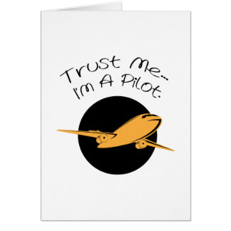 Trust Me I'm A Pilot Airplanes Gift Card