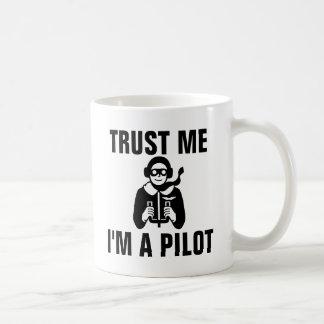 Trust Me I'm a Pilot Classic White Coffee Mug