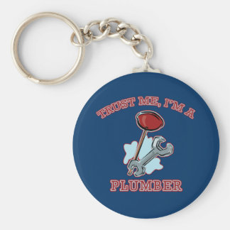 Trust Me I'm a Plumber Gifts and Apparel Keychains