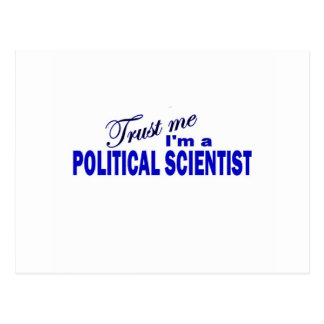 Trust Me I'm a Political Scientist Postcard