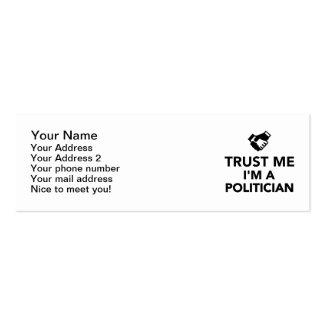 Trust me I'm a Politician Business Cards