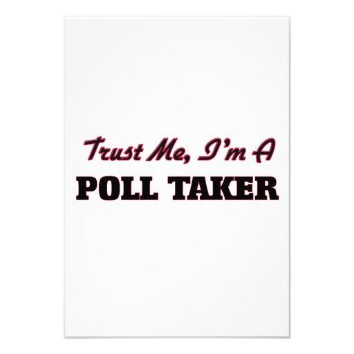 Trust me I'm a Poll Taker Personalized Invitation