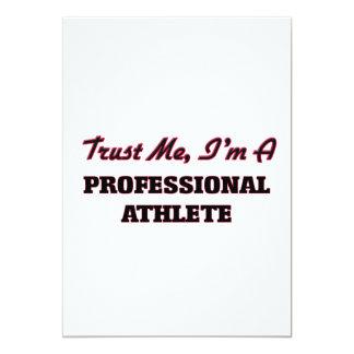 Trust me I'm a Professional Athlete 5x7 Paper Invitation Card