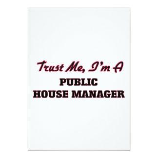 "Trust me I'm a Public House Manager 5"" X 7"" Invitation Card"