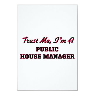 "Trust me I'm a Public House Manager 3.5"" X 5"" Invitation Card"