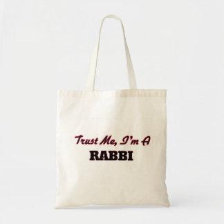 Trust me I'm a Rabbi Canvas Bag