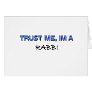 Trust Me I'm a Rabbi Greeting Card