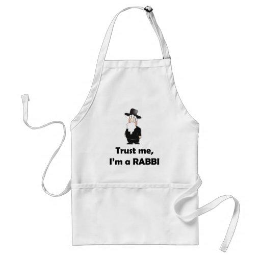 Trust me I'm a rabbi - Funny jewish humor Aprons