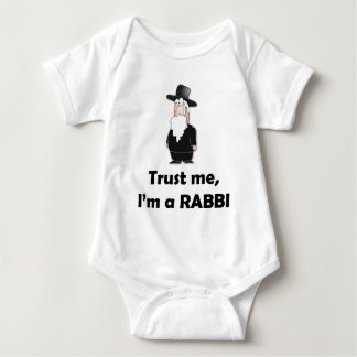 Trust me I'm a rabbi - Funny jewish humor Baby Bodysuit