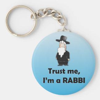 Trust me I'm a rabbi - Funny jewish humor Keychain