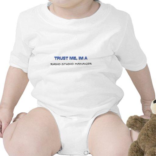 Trust Me I'm a Radio Studio Manager Baby Bodysuit