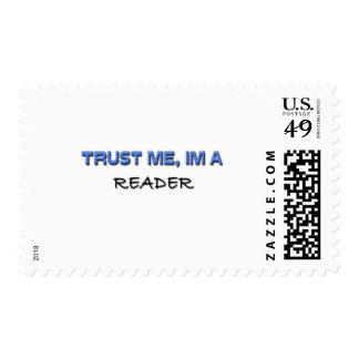 Trust Me I'm a Reader Postage Stamp